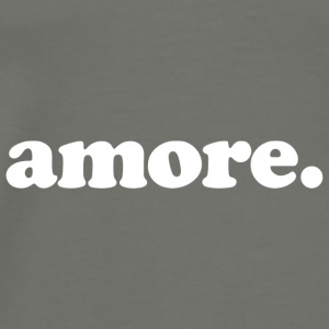 Amore - Fun Design (White Letters) - Men's Premium T-Shirt