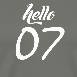 Hello 07 - Men's Premium T-Shirt