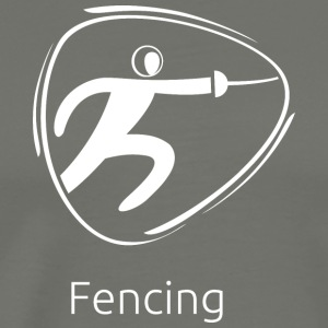 Fencing_white - Men's Premium T-Shirt