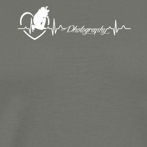 Photography Heartbeat Shirt - Men's Premium T-Shirt