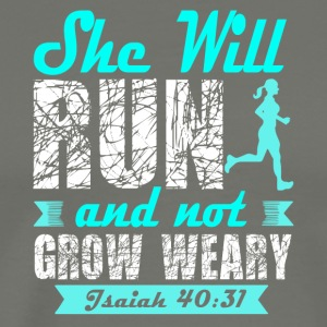 She Will Run And Not Grow Weary T Shirt - Men's Premium T-Shirt