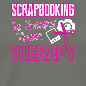 Scrapbooking Therapy Tee Shirt - Men's Premium T-Shirt
