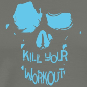 Skull inscription kill your workout - Men's Premium T-Shirt
