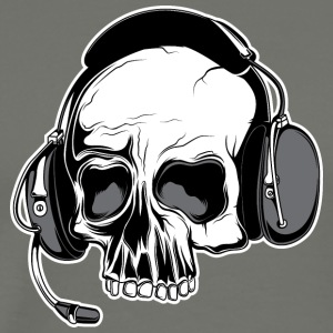 skull_with_headphones - Men's Premium T-Shirt