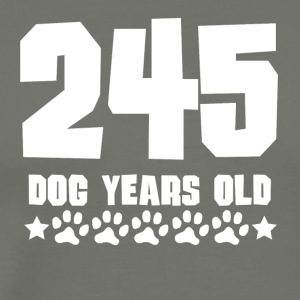 245 Dog Years Old Funny 35th Birthday - Men's Premium T-Shirt