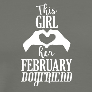 This Girl loves her February Boyfriend - Men's Premium T-Shirt