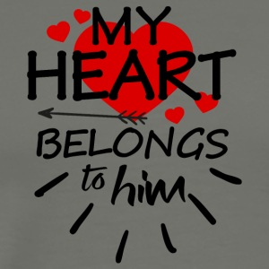 My heart belongs to him - Men's Premium T-Shirt