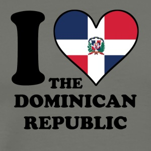 I Love Dominican Republic Dominican Flag Heart - Men's Premium T-Shirt
