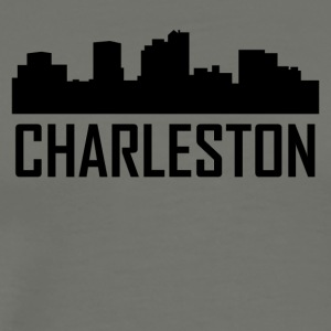 Charleston West Virginia City Skyline - Men's Premium T-Shirt