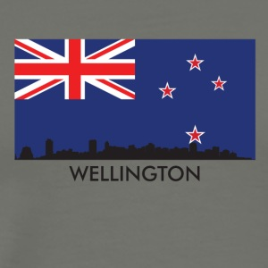 Wellington Skyline New Zealand Flag - Men's Premium T-Shirt