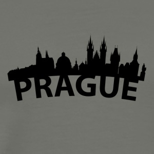 Arc Skyline Of Prague Czech Republic - Men's Premium T-Shirt