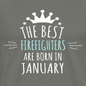 Best FIREFIGHTERS are born in january - Men's Premium T-Shirt