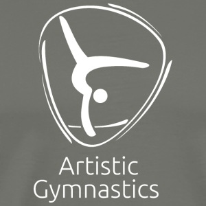 Artistic_gymnastics_white - Men's Premium T-Shirt