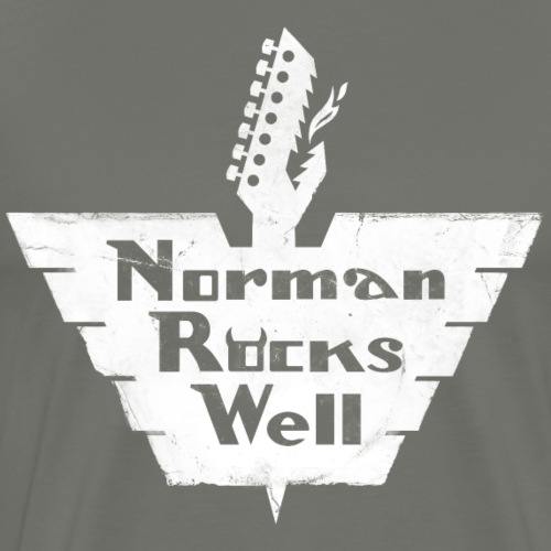 Norman Rocks Well - distressed - in white - Men's Premium T-Shirt