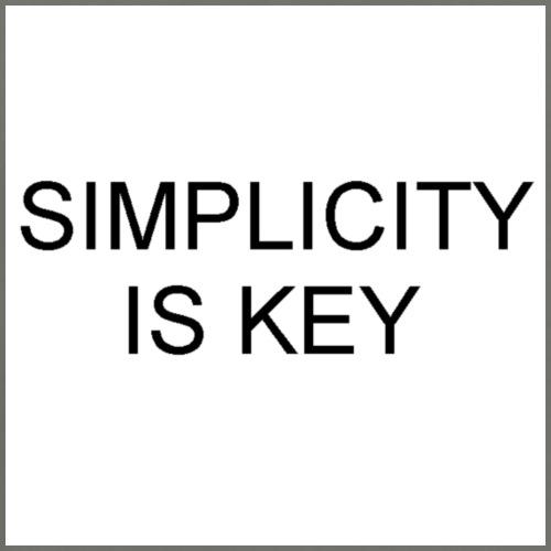 SIMPLICITY IS KEY - Men's Premium T-Shirt