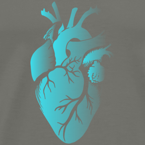 Blue Fading Heart - Men's Premium T-Shirt