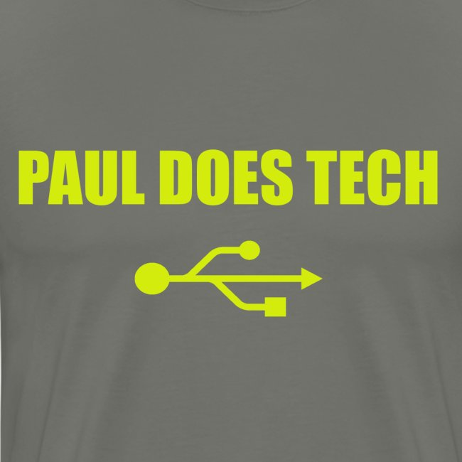 Paul Does Tech Logo Yellow With USB (BS)