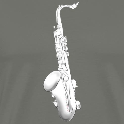 Tenor Saxophone · white rotate - Men's Premium T-Shirt