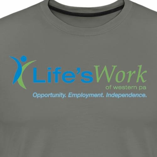 Life'sWork Standard Logo - Dark Grey - Men's Premium T-Shirt