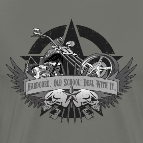 Hardcore. Old School. Deal With It. - Men's Premium T-Shirt