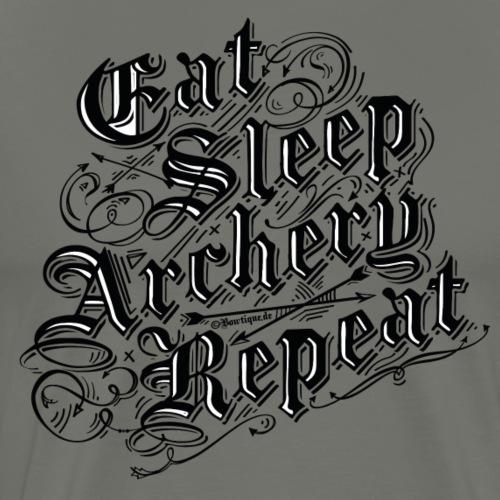 Eat Sleep Archery Repeat BLB (Archery by BOWTIQUE) - Men's Premium T-Shirt