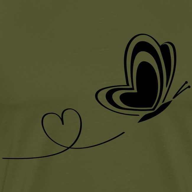 butterfly love heart wings insect