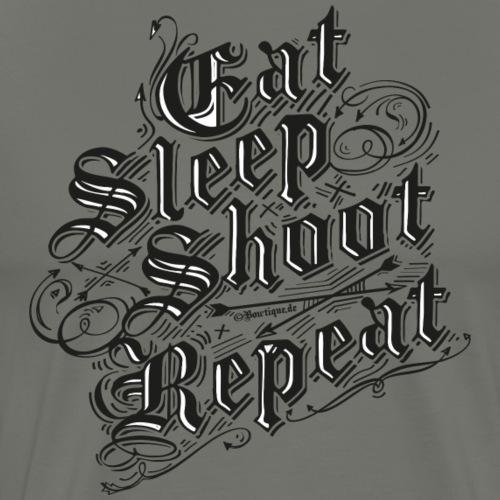 Eat Sleep Shoot Repeat BLB (Archery by BOWTIQUE) - Men's Premium T-Shirt