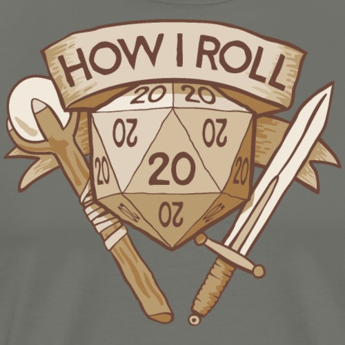 How I Roll D&D Tshirt - Men's Premium T-Shirt