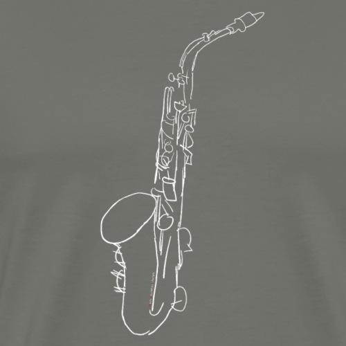 Alto Saxophone · white - Men's Premium T-Shirt