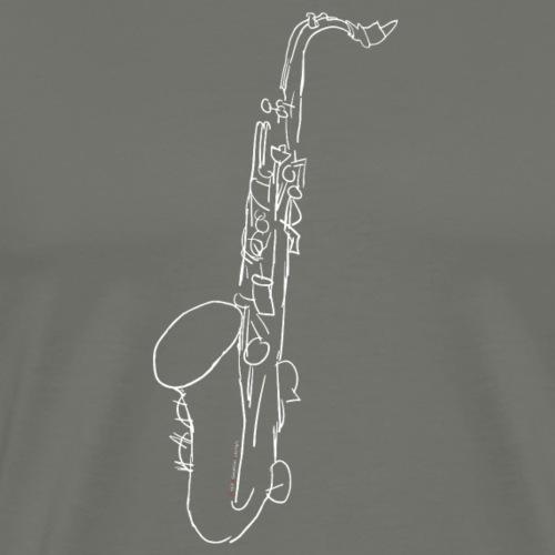 Tenor Saxophone · white