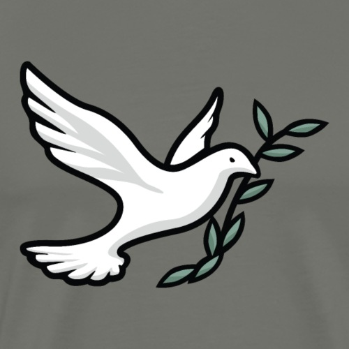 Dove with Olive Branch - Men's Premium T-Shirt