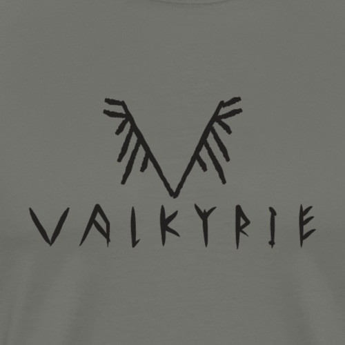 Valkyrie Viking Logo (black) - Men's Premium T-Shirt