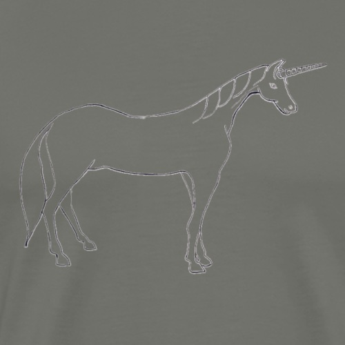 unicorn outline - Men's Premium T-Shirt
