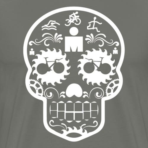 Sugar Skull - white graph - Men's Premium T-Shirt