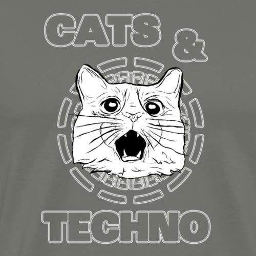 Cats & Techno - Men's Premium T-Shirt
