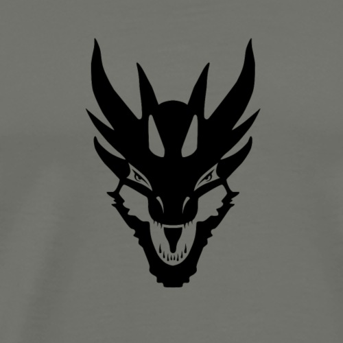 Black Dragon Face No Text - Men's Premium T-Shirt