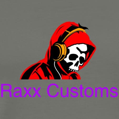 SKULL RAXX CUSTOMS logo red - Men's Premium T-Shirt