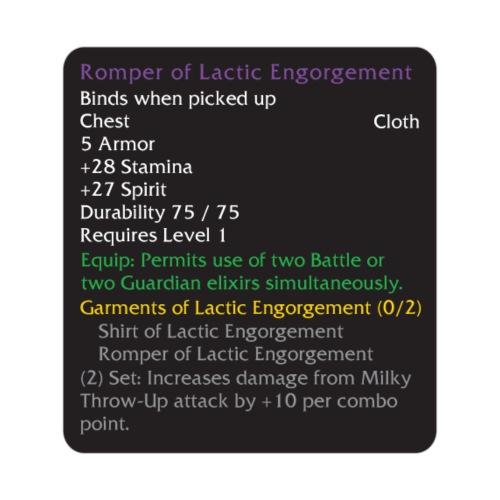 Warcraft Baby: Romper of Lactic Engorgement - Men's Premium T-Shirt