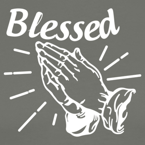 Blessed - Alt. Design (White Letters) - Men's Premium T-Shirt