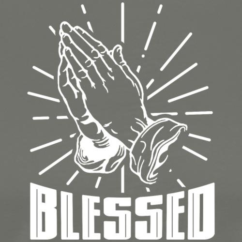 Blessed - Alt. Design (White Letters) - Men's Premium T-Shirt