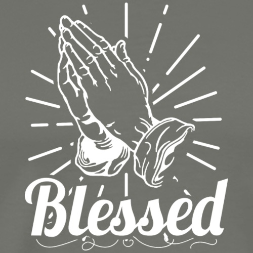 Blessed (White Letters) - Men's Premium T-Shirt