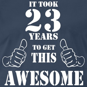23rd Birthday Get Awesome T Shirt Made in 1994 - Men's Premium T-Shirt