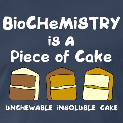 Biochemistry Cake White Text - Men's Premium T-Shirt