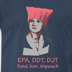 Rachel Carson - fund, ban, impeach - dark - Men's Premium T-Shirt