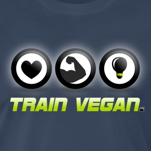Heart | Biceps | Brains – Train Vegan. - Men's Premium T-Shirt