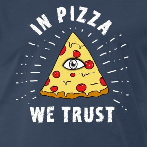 pizza illuminati Eye Pyramide Humor fun fastfood - Men's Premium T-Shirt