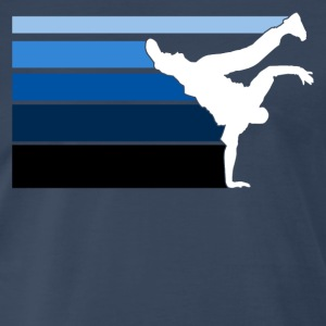 B BOY blue gradient pattern - Men's Premium T-Shirt