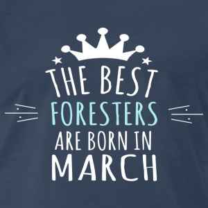 Best FORESTERS are born in march - Men's Premium T-Shirt