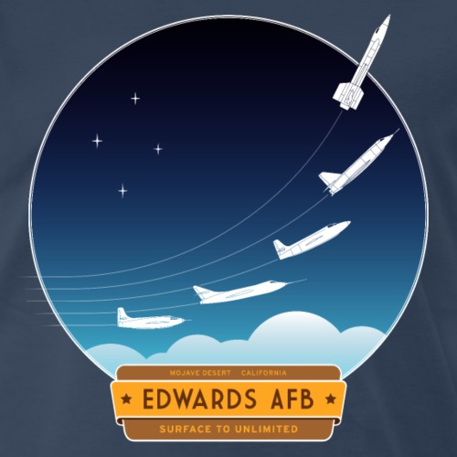 Edwards Air Force Base - yellow and brown logo - Men's Premium T-Shirt