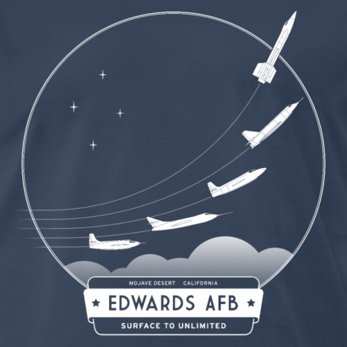 Edwards Air Force Base - White Print - Men's Premium T-Shirt